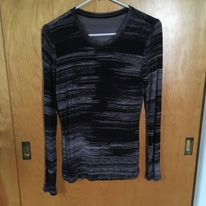 NWOT Black and Gray Long Sleeve Top